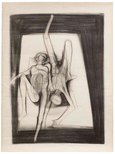 Barbara Chase Riboud (b.1939) Le Lit, 1966 charcoa...