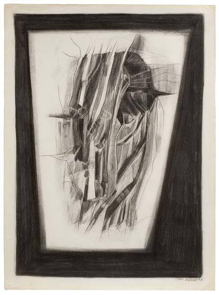 Barbara Chase-Riboud Le Lit, 1966 charcoal and cha...