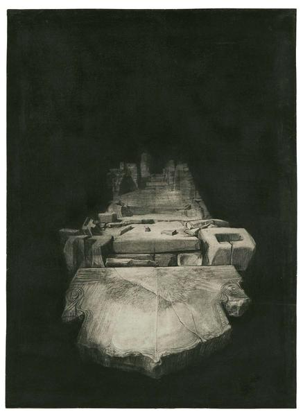 Barbara Chase-Riboud Untitled, 1973 charcoal and c...