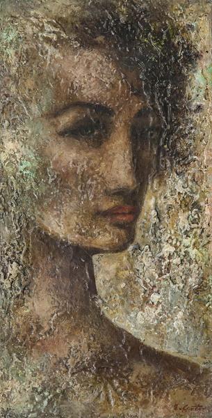 Eldzier Cortor (1916-2015) Untitled (Head of a Wom...
