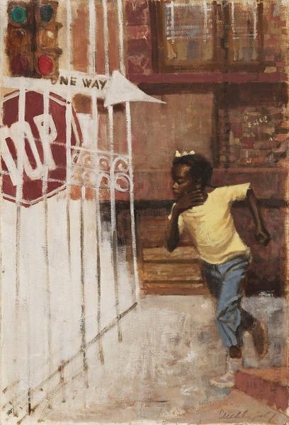 Ernest Crichlow (1914-2005) Untitled (One Way), 19...