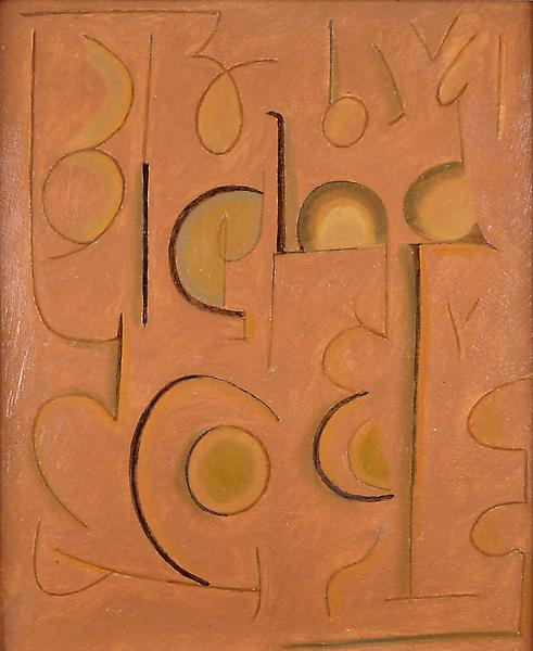"""Untitled (Study #30), c.1912 oil on board 15 5/8""""..."""