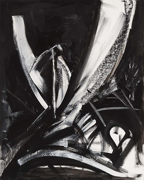 Samurai No. 9, 1987 tempera, pastel and charcoal o...