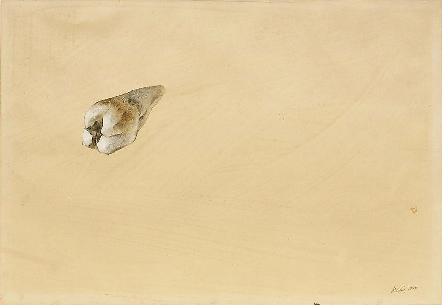 Untitled (Tooth), 1970 acrylic and graphite on pap...