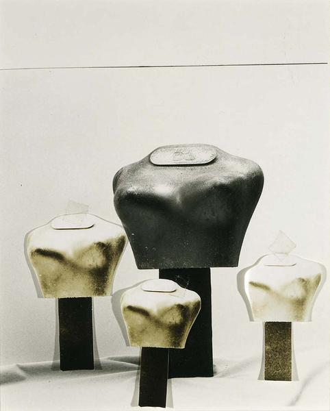 Jay DeFeo (1929-1989) Untitled (four torso forms),...