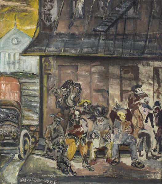 Washington Market (NYC), 1945 oil on canvas 25 1/4...