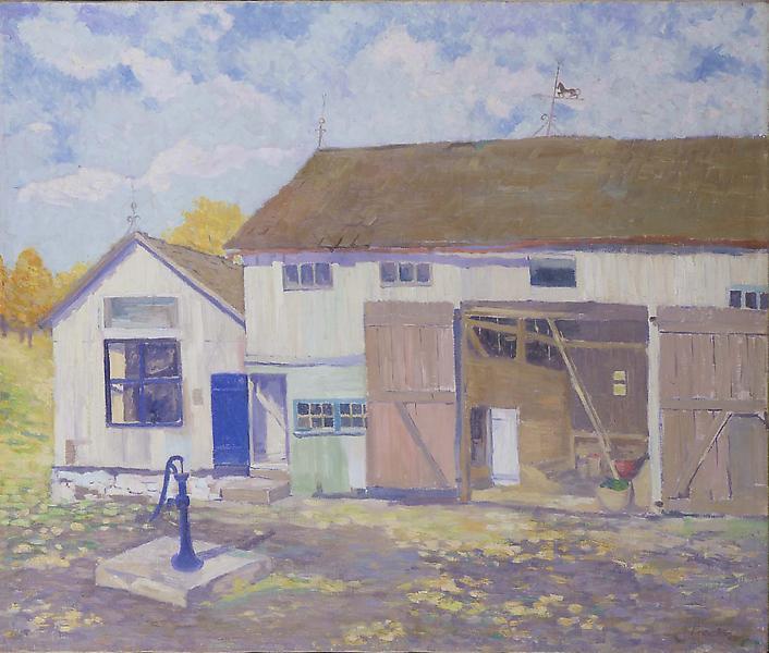 """The Barn, Telford, c.1940 oil on canvas 25"""" x..."""