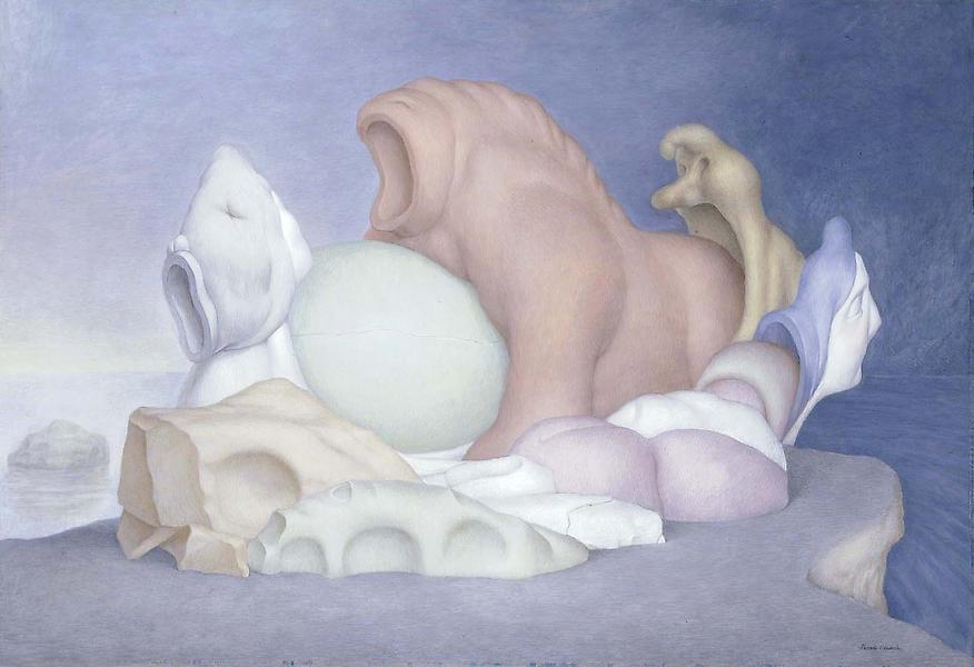 Nest, 1965 tempera on paper mounted to gessoed boa...