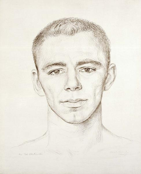 Ted, 1954 silverpoint on gessoed paperboard 12 3/4...