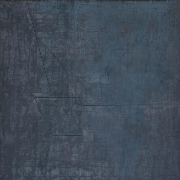 Patent Blue II, 1971 aluminum pigment and alkyd sp...