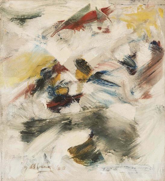 Michael Goldberg (1924-2007) Untitled, 1953 oil on...