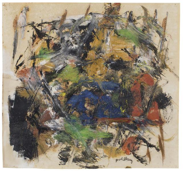 Michael Goldberg (1924-2007) Untitled, c.1957 oil...