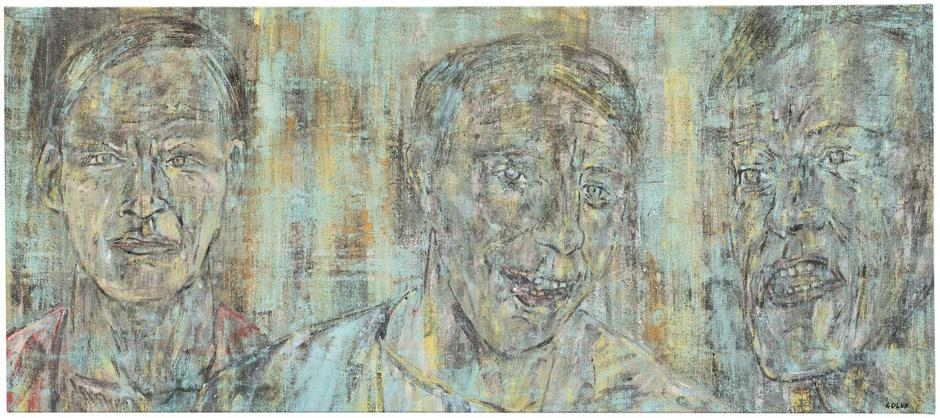 Leon Golub (1922-2004) Three Heads (II), 1988 oil...