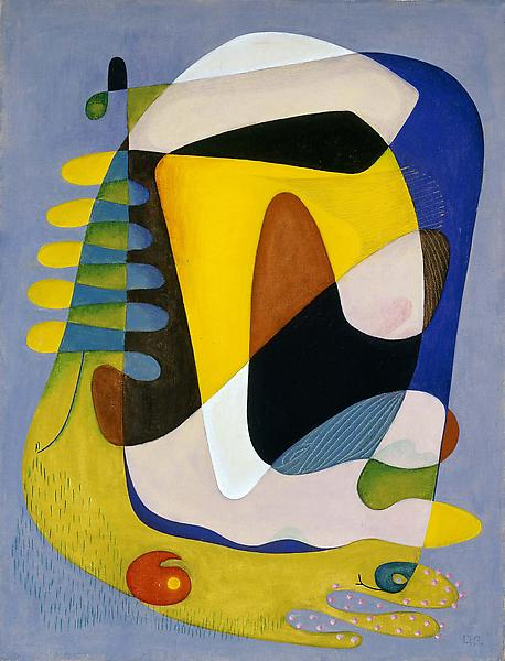 Untitled, c.1941 oil on canvas 25 x 19 inches, sig...