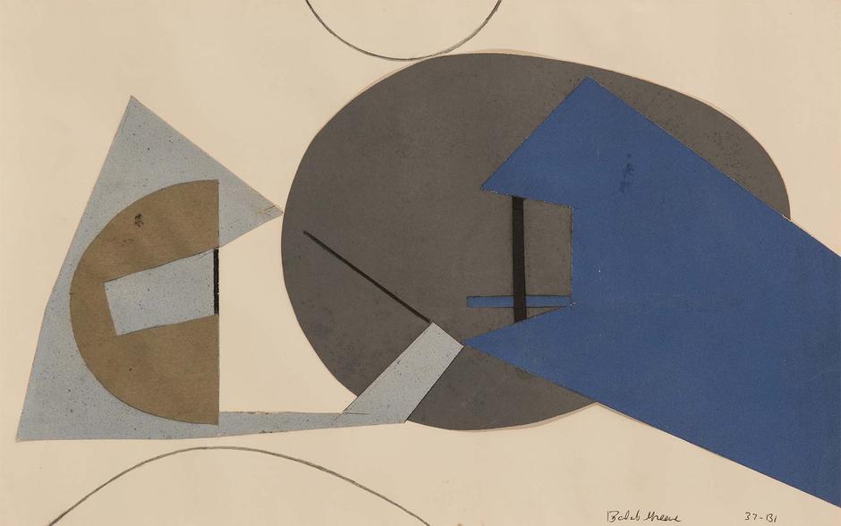 Balcomb Greene (1904-1990) 37-B1, 1937 cut paper c...