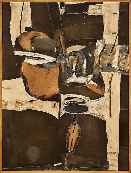 Black Landscape, 1964 mixed media assemblage on ca...