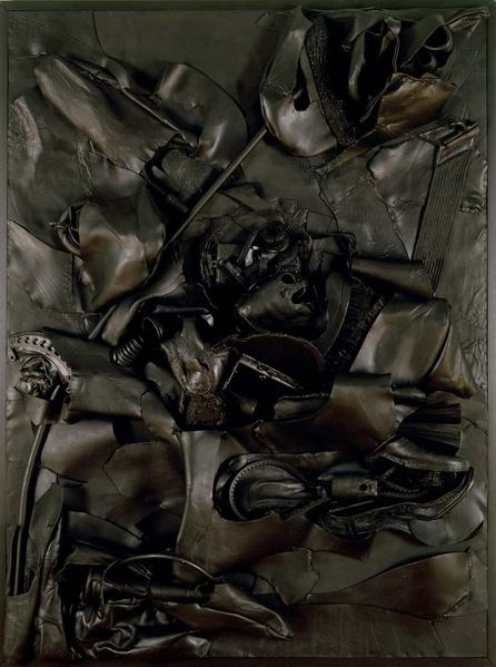 Nancy Grossman (b.1940) Black Lavascape, 1994-95 m...