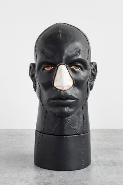 Nancy Grossman (b.1940) Brox, 1980, leather, wood,...
