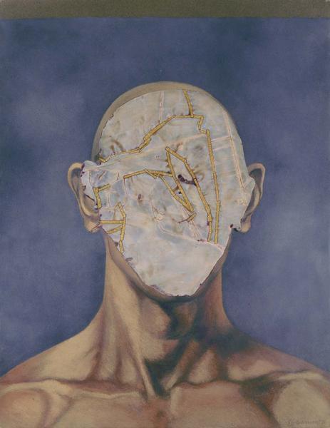 Nancy Grossman (b.1940) Collage Pastel #2, 1976 co...