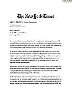 The New York Times, January 12, 2001
