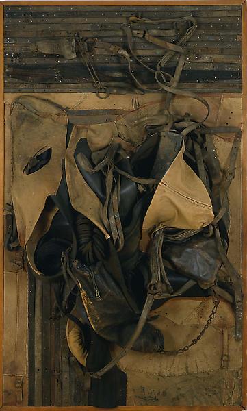 Potawatami, 1967 leather, rubber and metal assembl...