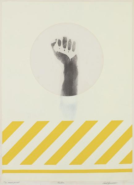 David Hammons (b.1943) Caution, c.1971-72 body pri...