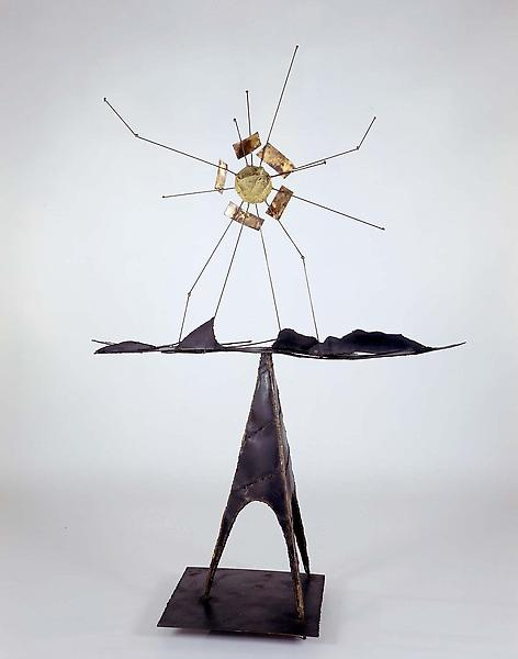 Untitled, c. 1952 steel, copper rods, various meta...