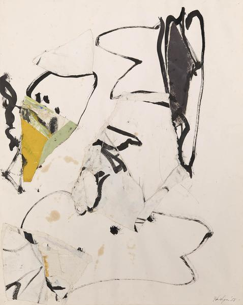 Grace Hartigan (1922-2008) Untitled, 1958 oil and...