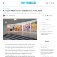 Hyperallergic, December 30, 2018