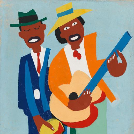 William H. Johnson (1901-1970), Blind Singer (deta...