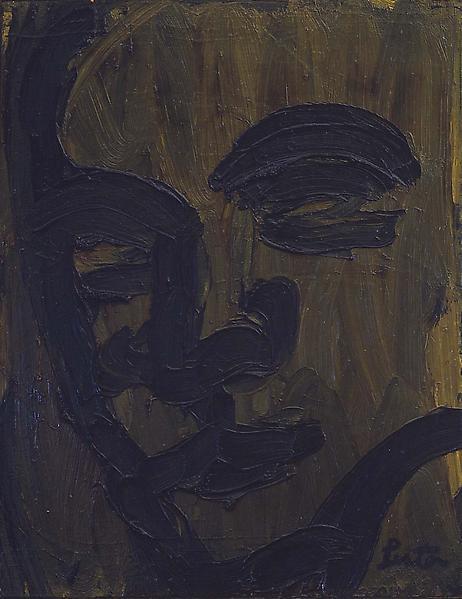 "Head, c.1961 oil on canvas 26"" x 20"", signed &nbsp..."