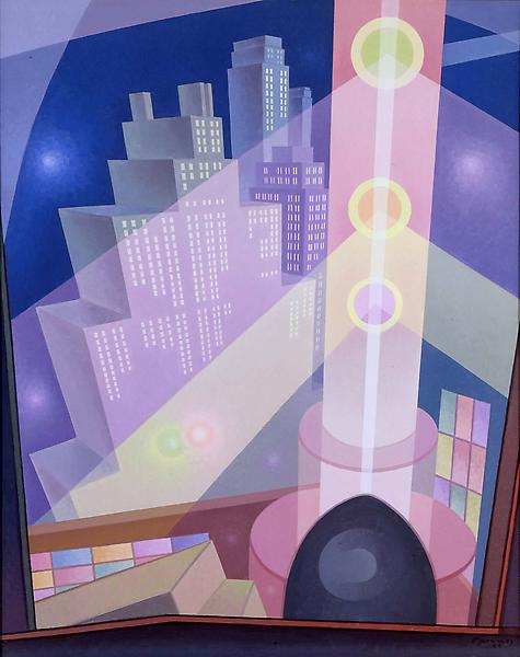 City Lights, 1933 oil on canvas 48 x 38 inches, si...