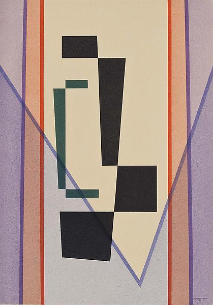Improvisation No. 2, 1943 casein tempera on paper...