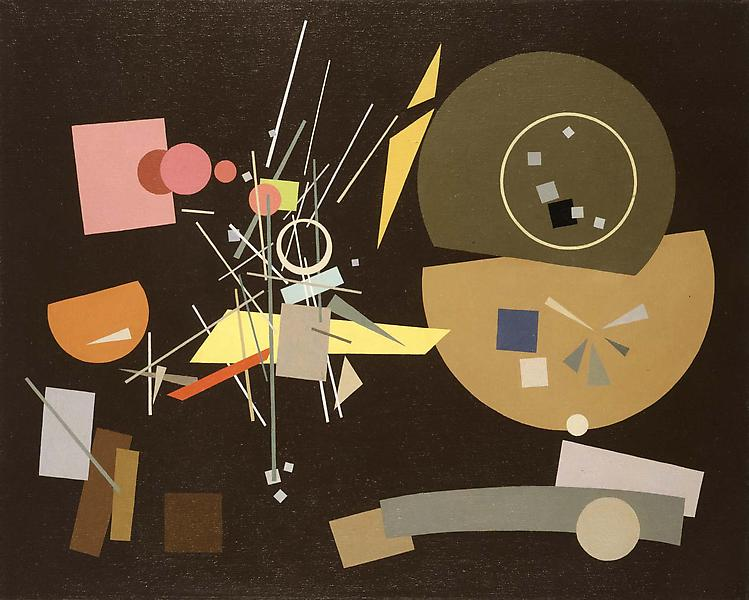"Composition #511, 1951 oil on canvas 24"" x 30"", si..."