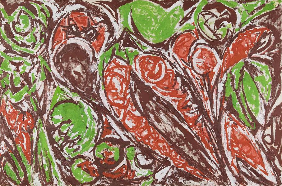 Lee Krasner (1908-1984) Untitled, 1965 gouache on...