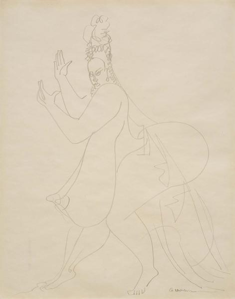 Untitled (Dancing Figure), 1932-34 graphite on pap...