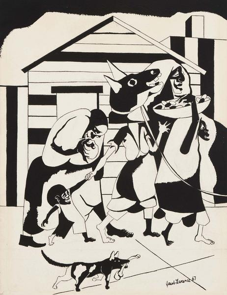 Carnival, 1967 black ink and graphite on paper 17...