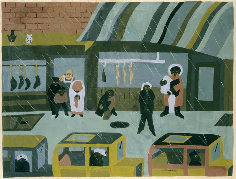 Jacob Lawrence (1917-2000) The Butcher Shop, 1938...