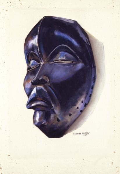 "Dan Mask, 1935 pastel on sandpaper 18 1/8"" x 12 1/..."