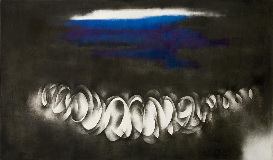 """Ebb Tide, 1975 oil on canvas 47 3/4"""" x 80 1/8..."""