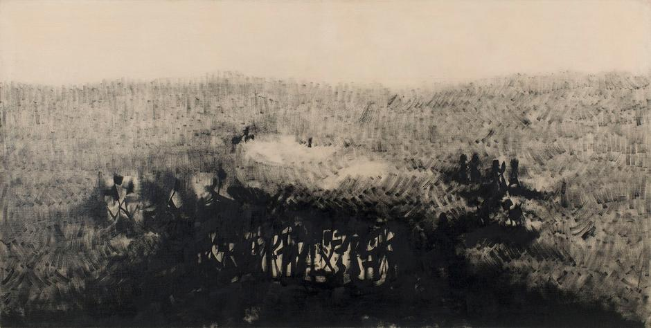 """Night Light, 1956 oil on canvas 29 5/8"""" x 58..."""