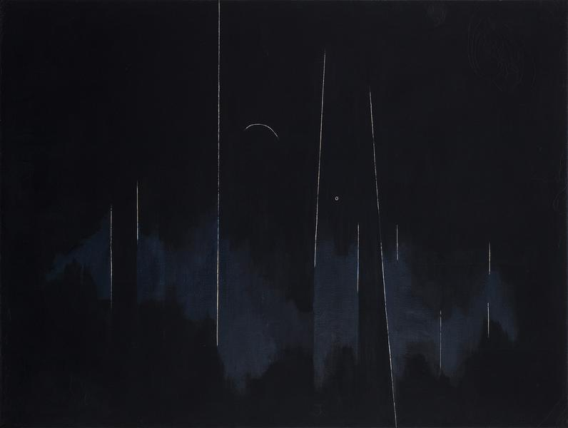 """No. 2, 1973 oil on canvas 49 3/4"""" x 67 1/8&qu..."""