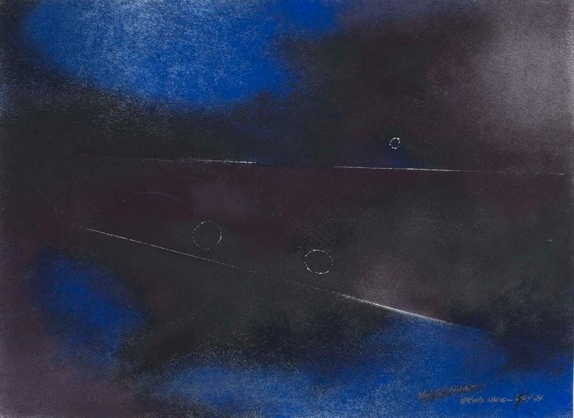 Ode to Duke, 1977 oil on paper with incised marks...