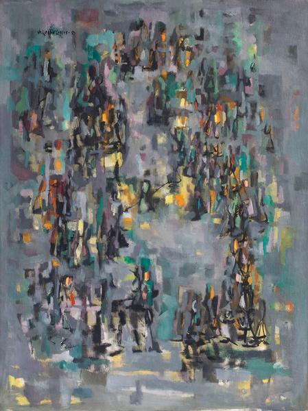 """Promenade #2, 1950 oil on canvas 39 7/8"""" x 29..."""
