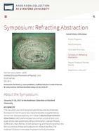 Stanford University Symposium, January 27-28, 2017