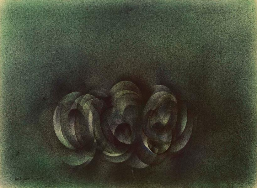 """Untitled, 1975 oil on paper 22"""" x 30"""" si..."""
