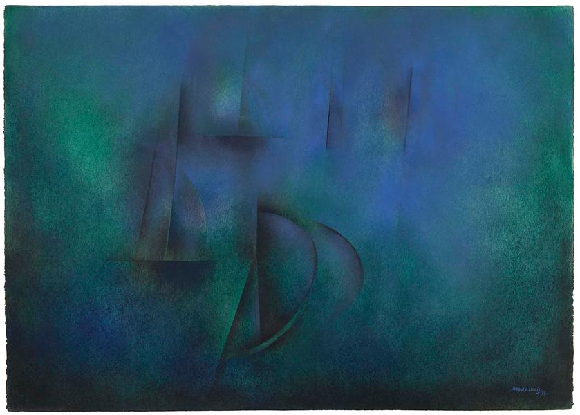 """Untitled, 1978 oil on paper 29 3/4"""" x 41 5/8&..."""