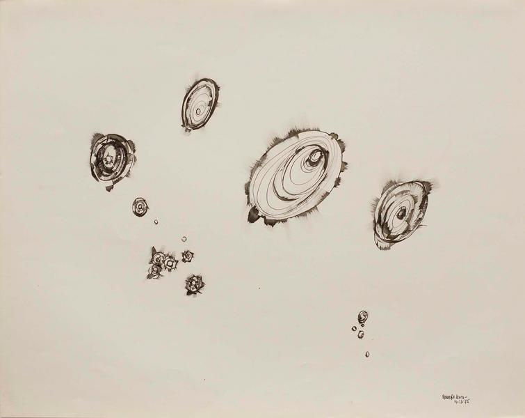 """Untitled, 1975 ink on paper 23 1/8"""" x 29 1/8&..."""