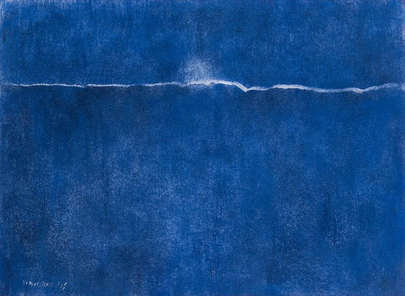 """Untitled, 1974 oil and pastel on paper 22"""" x..."""