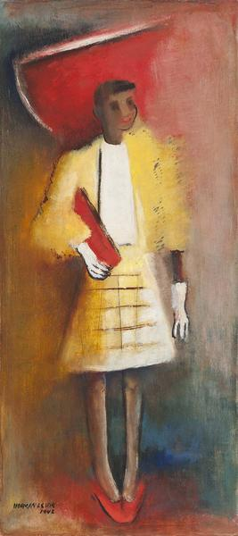 Norman Lewis (1909-1979) Untitled (Woman in Red Ha...